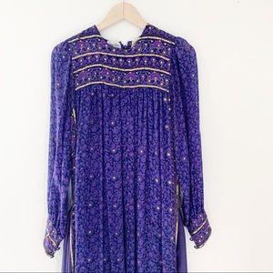 Vintage Indian silk sequin maxi dress